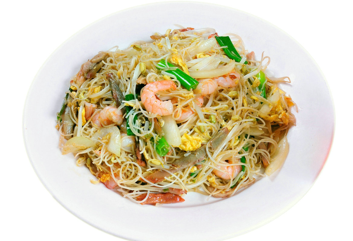 Fried Vermicelli in Singaporean Style